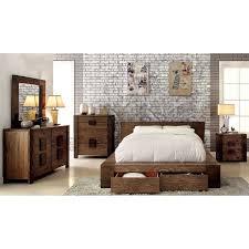 Overstock Com Bedroom Sets Furniture Of America Shaylen Ii Rustic 4 Piece Natural Tone Low