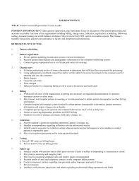 Agency Nurse Job Description Billing Job Descriptions And Duties Resume Sample