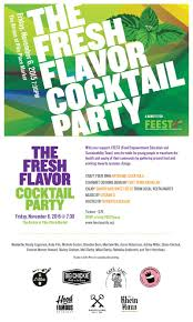 the fresh flavor cocktail party feest seattle