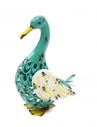 green metal duck garden ornament 169 95 metal garden sculpture