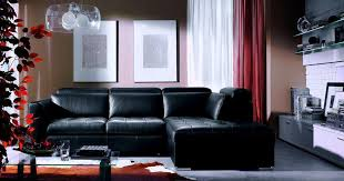 Black Sofa Living Room White Valances Curtain And Black Sofa Furniture In