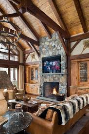 living room designs with fireplace and tv 38 rustic country cabins with a stone fireplace for a romantic get