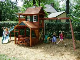 wooden outdoor playsets for kids for backyard playground kids