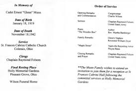 Funeral Ceremony Program Final Flight Blog