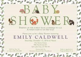 woodland creature baby shower create easy woodland creatures baby shower invitations ideas