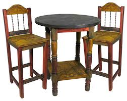 Rustic Pub Table Set Amazing Rustic Bistro Table And Chairs Rustic Timbers Barnwood Pub