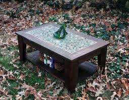 Diy Patio Coffee Table Mosaic Tile Outdoor Table Gccourt House