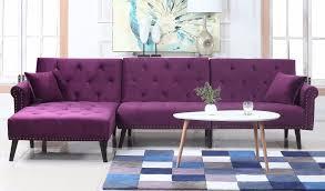 sofa l shape velvet sleeper futon sofa l shape sectional couch w reclining