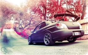 subaru wrx modified wallpaper japan blossoms bokeh sti tuning subaru impreza subaru
