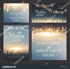 Wedding Invitation Cards With Photos Wedding Invitation Cards Template Set Soft Stock Vector 429008092