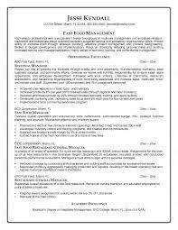 fast food job description for resume 22 food server resume server