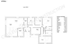 plan de maison de plain pied avec 4 chambres plan maison plain pied gratuit pdf