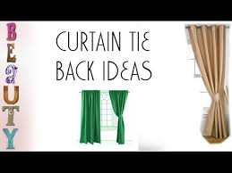 Tie Backs Curtains Curtain Tie Back Ideas