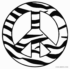 tree peace sign coloring pages