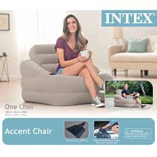 Intex Inflatable Sofa With Footrest by Intex Inflatable Indoor Or Outdoor Accent Chair With Cup Holder
