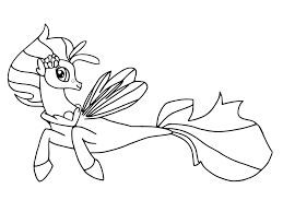 my little pony coloring pages princess skystar mlp movie 2017