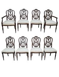 faux painted sheraton style shield back dining chairs by pama