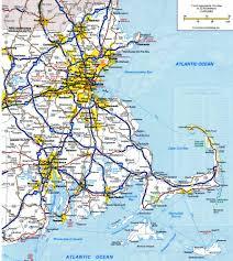 road map massachusetts usa rhode island road map