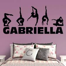 gymnastics personalized name wall decal shop fathead for wall