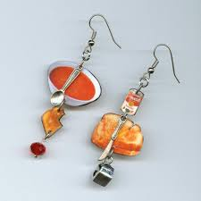 food earrings comfort food earrings grilled cheese sandwich tomato soup milk