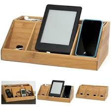 phone charger organizer charging station organizer bamboo multi device charger stand gift