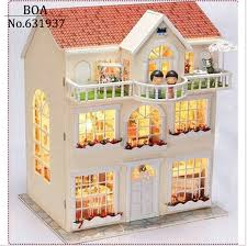 whole house christmas light kit diy doll house dream fairy model building 3d miniature handmade