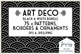 printable art deco borders art deco arrow clipart collection