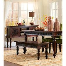 home decorators collection maharaja walnut wood dining bench in