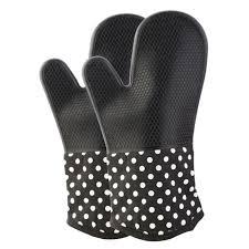 bureau d ude m anique manique épaisse gant à four réfractaire coton silicone noir une