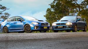 subaru wrx sport 2015 subaru wrx sti old v new comparison 2015 sedan v 1999 two door