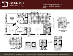 schult modular home floor plans schult integrity 5628 14 excelsior homes west inc
