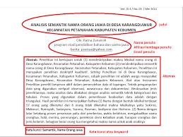 format abstrak tesis tata cara penulisan karya tulis ilmiah struktur artikel ilmiah