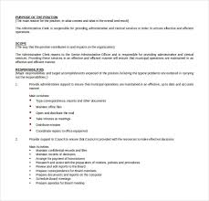 Office Assistant Job Description For Resume by 11 Word Administrative Assistant Resume Templates Free Download