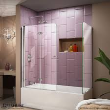 tub with glass shower door framed bypass sliding shower doors showers the home depot