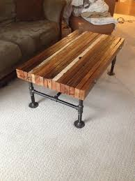 dark wood coffee table sets coffee table made from old 2x4s and black iron pipe muebles
