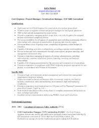 Project Engineer Sample Resume by Engineering Resume Civil Engineering