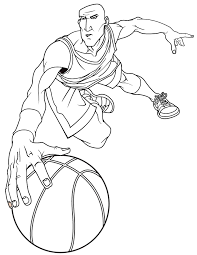 basketball player dribbling coloring u0026 coloring pages