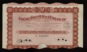 credit foncier siege social uruguay bank credit foncier de l uruguay dd 1927 ebay