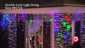 halloween icicle lights gemmy lightshow sparkle 85724 sparkle icicle multi color