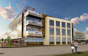 three story building new office building proposed for former interbake warehouse