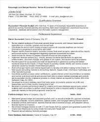 Sample Resumes For Accounting by Accountant Resume 9 Free Word Pdf Documents Download Free