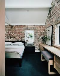 The Brick Vanity Table 65 Impressive Bedrooms With Brick Walls Digsdigs
