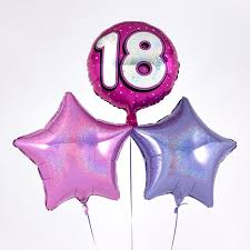 inflated balloons delivered pink 18th birthday balloon bouquet inflated free delivery