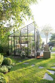 Harmony Greenhouse Architecture Black Iron Framed Home Greenhouse Designs With