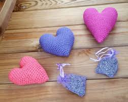 Heart Home Decor Lavender Heart Etsy