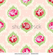 Shabby Chic Rose by Shabby Chic Rose Damask Pattern Vector Stock Vector 330406061