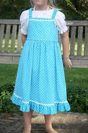 rick rack trim modest turquoise and white polka dot ruffle jumper