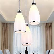 Pendant Lighting Glass Shades 3 Light White Glass Shade Simple Style Multi Pendant Light