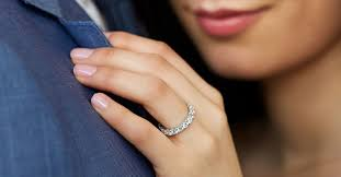eternity ring finger eternity rings find the right carat total weight for you blue nile