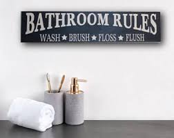 Wall Decor Bathroom Rustic Bathroom Etsy